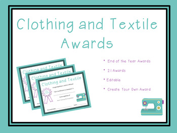 Clothing and Textile End of the Year Awards