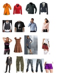 Clothing and accessories - picture set