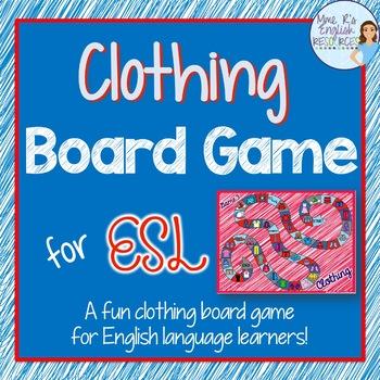 Clothing board game for ESL/ELL