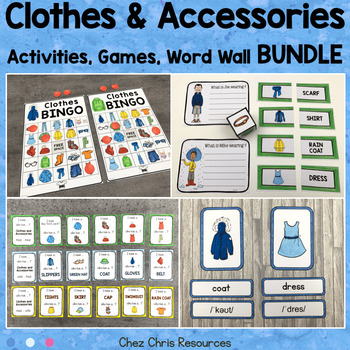 Clothes UNIT - Vocabulary and Engaging Activities