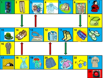 Clothing Game board power point version