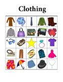 Clothing in English Bingo