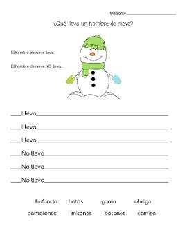 Clothing in winter- hombre de nieve y ropa
