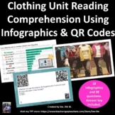 La Ropa Spanish clothing reading comp: infographics in gallery walk & QR codes