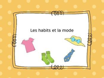 Clothing lesson French / vocabulaire des vêtements