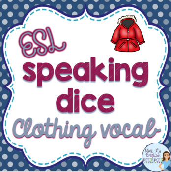 Clothing speaking activity for ESL