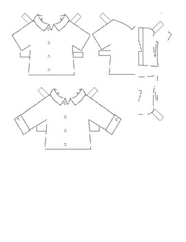 Clothing - templates for paper dolls
