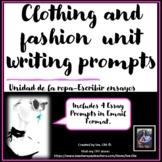 La Ropa Spanish Clothing Writing Prompts