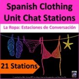 La Ropa Spanish Clothing Conversation Stations. Clothing talking and Speaking.