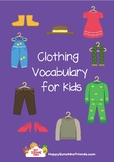 Clothing vocabulary for kids