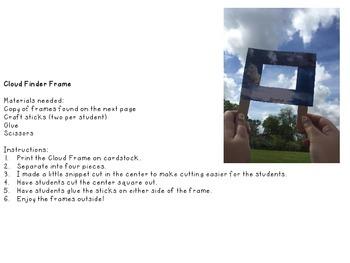 Cloud Activities {Finder Frame, Model Flapbook and Observation Sheet}