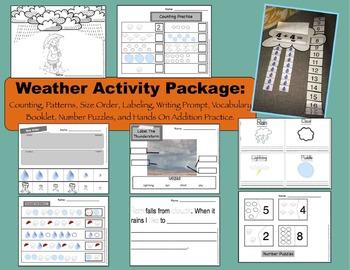 Weather Activities/ Unit Package ELA and Math