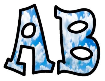 Cloud Alphabet Letters
