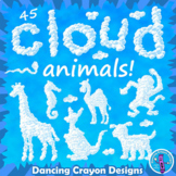 Cloud Animals Clip Art and Alphabet Letters