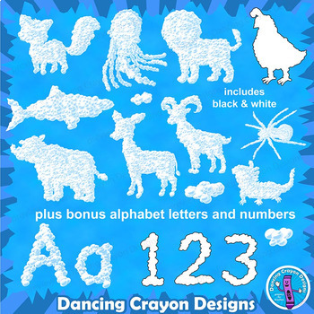 Cloud Animals Clip Art and Alphabet Letters by Dancing ...