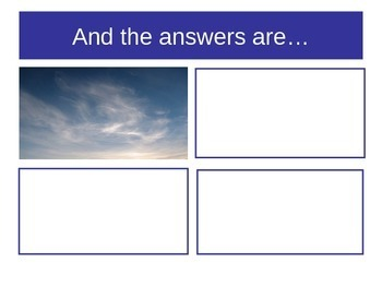 Cloud Classification Card Sort and Power Point Activity