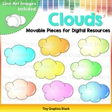 Cloud Clip Art Movable Images for Digital Resources