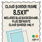Cloud Clipart Border Frame and Background