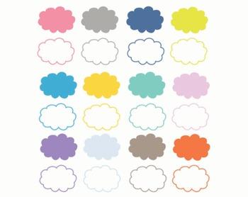 Cloud Clipart, Cloud, Clipart, Set #175