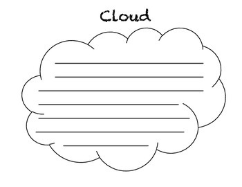 cloud template with lines cloud concrete poem template by in the first place
