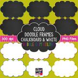 Cloud Doodle Frames {Chalkboard & White} in Bubble Gum Colors
