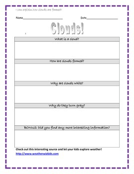 Cloud Formation Internet Search