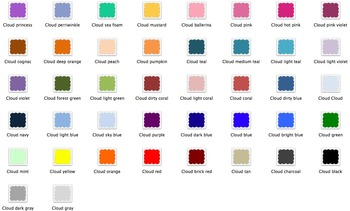 Cloud Frames in many colors