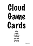Cloud Game Cards - 3/page Assorted Colors
