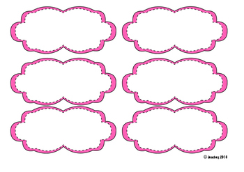 Cloud Game Cards 6/page Assorted Colors