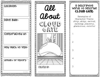 Cloud Gate Research Project Brochure Template, Geography, History