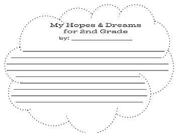 Cloud: Hopes and Dreams for Second Grade