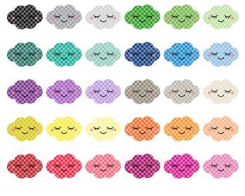Cloud Kawaii Gingham - Clipart - 30 colors - 30 PNG files - scrapbooking - CA39