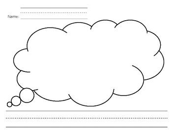 Cloud Kindergarten Writing Paper