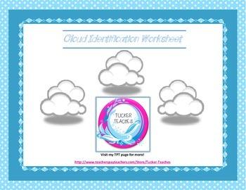 Cloud Match Worksheet