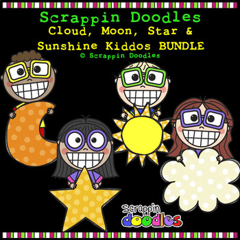 Cloud, Moon, Star & Sunshine Kiddos BUNDLE