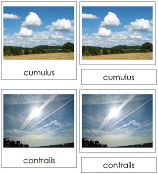 Cloud Nomenclature: 3-Part Cards