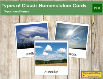 Cloud Nomenclature: 3-Part Cards