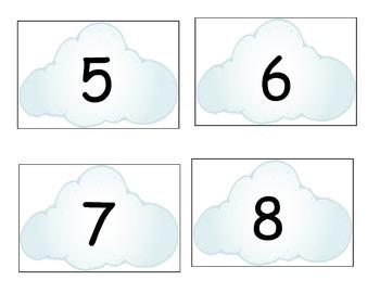 Cloud Number Cards/Calendar Cards