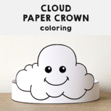 Cloud Paper Crown Headband Printable Coloring Spring Summer Craft Activity