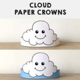 Cloud Paper Crowns Headbands Printable Coloring Spring Summer Craft Activity
