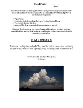 Cloud Poster Assignment
