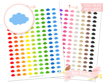 Cloud Printable Planner Stickers