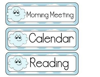 Cloud Schedule Cards
