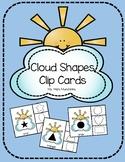 Cloud Shape Match Clip Cards