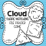 Cloud Shape Matching File Folder Game