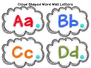 Cloud Shaped Word Wall Set