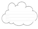Cloud Shaped lined writing paper