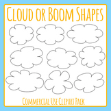 Cloud Shapes or Boom Shapes Clip Art for Commercial Use