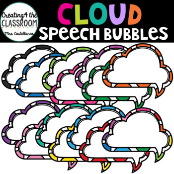 Cloud Speech Bubbles {Speech Bubble Clip Art}