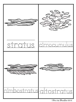 Cloud Spotters Write / Stamp the Room Activity Pack
